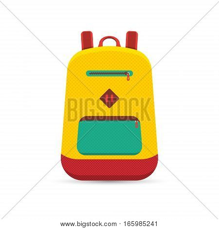 vector illustrations of backpack in flat design style