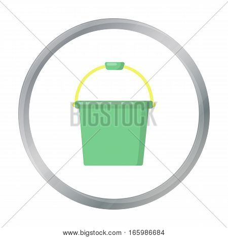 Bucket cartoon icon. Illustration for web and mobile.