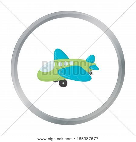 Plane toy cartoon icon. Illustration for web and mobile.