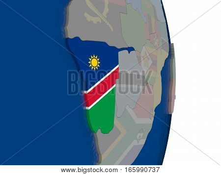 Namibia With Its Flag
