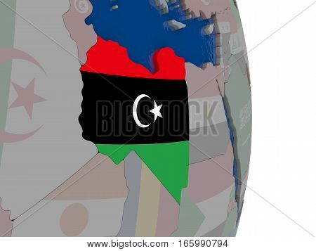 Libya With Its Flag