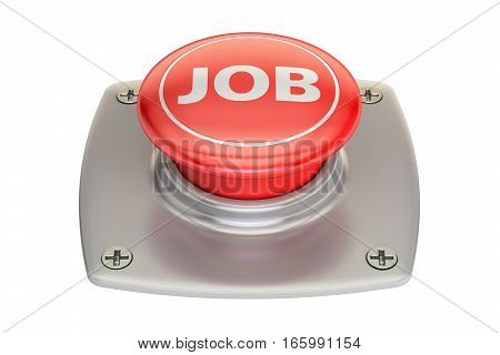 Job button 3D rendering isolated on white background