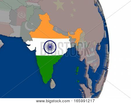 India With Its Flag