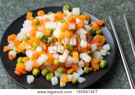 Cooked Vegetables On A Plate