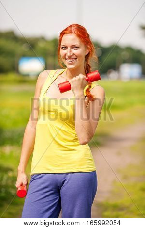 Woman Exercising Portrait