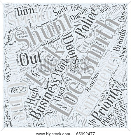 High Priority for Locksmiths Word Cloud Concept