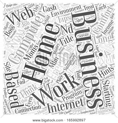 Hints And Tips For Starting A Home Business Word Cloud Concept
