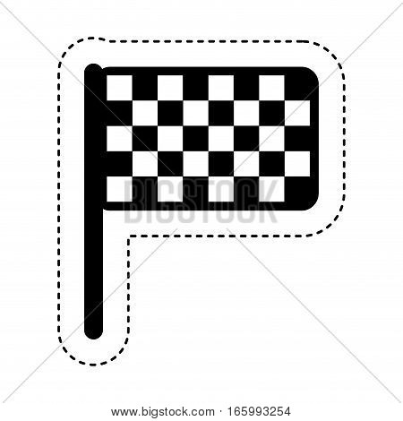 finish flag location icon vector illustration design