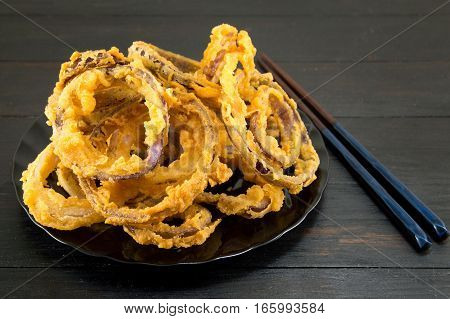 Onion Rings With Chopsticks