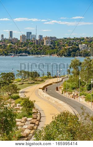 Barangaroo Reserve is the park at Millers Point on the north-western tip of Sydney's Central Business District.