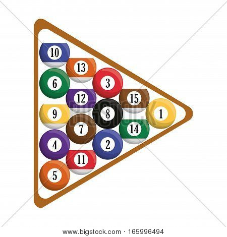 billard balls triangle equipment vector illustration eps 10