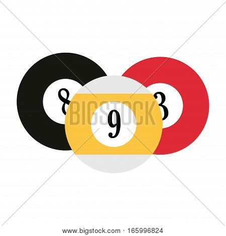 set balls billard playng table vector illustration eps 10