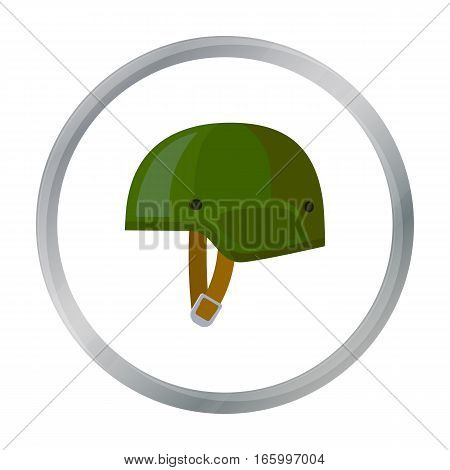 Army helmet icon in cartoon style isolated on white background. Military and army symbol vector illustration - stock vector