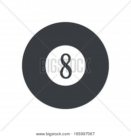 pictogram billard eight ball game vector illustration eps 10