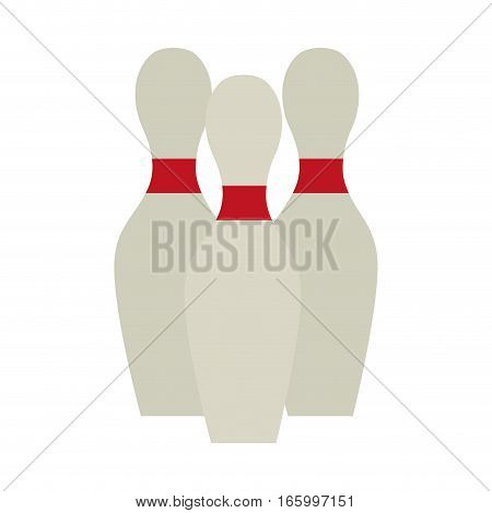 bowling pin set game design vector illustration eps 10