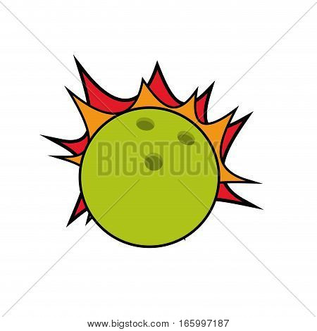 drawing ball bowling strike design vector illustration eps 10