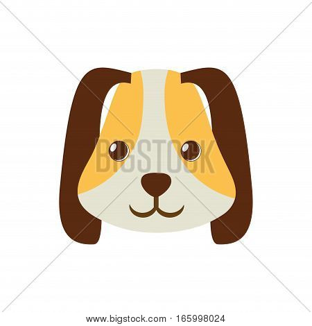 puppy face ear long brown pet vector illustration eps 10
