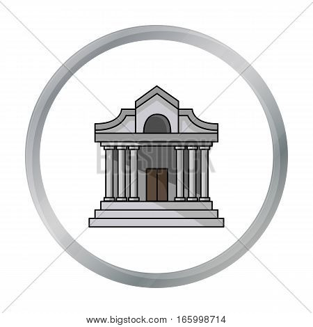 Museum building icon in cartoon style isolated on white background. Museum symbol vector illustration. - stock vector