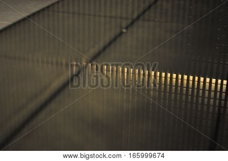 Abstract photo of reflection, lights and surface
