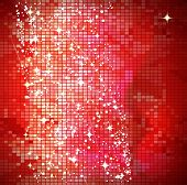 Red mosaic background poster
