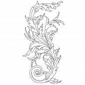 Black vintage ornament, baroque ornament, scroll ornament, engraving border ornament, floral ornament, retro pattern ornament, antique ornament, style acanthus ornament, foliage swirl ornament, decorative ornament, filigree ornament, calligraphy ornament poster