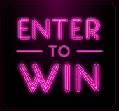 Enter to Win Vector Sign, Win Prize, Win in Lottery poster