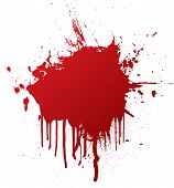 blood splat with dribble that can be used as a background poster