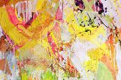 Mixed technics, Expression Abstract painting poster