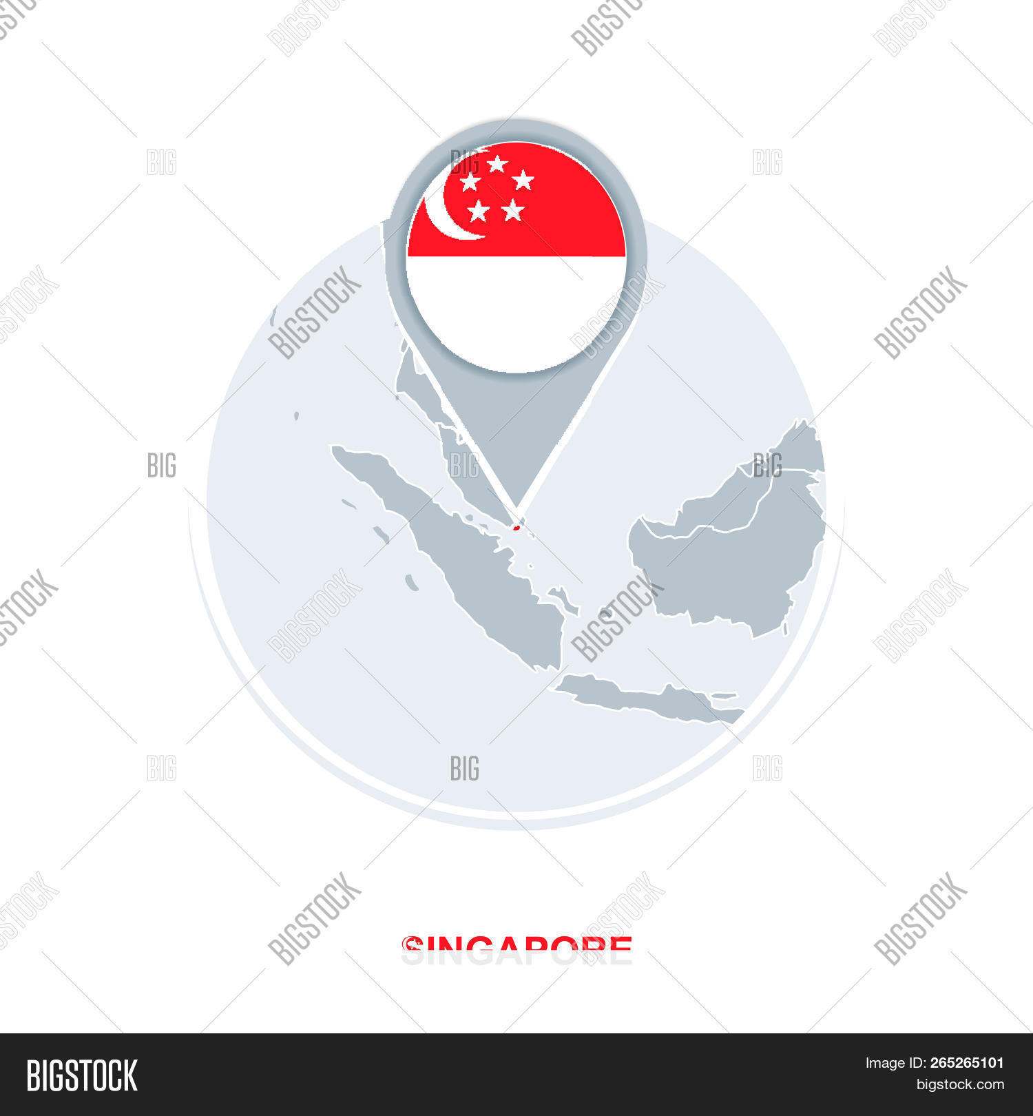 Singapore Map Flag, Vector & Photo (Free Trial) | Bigstock