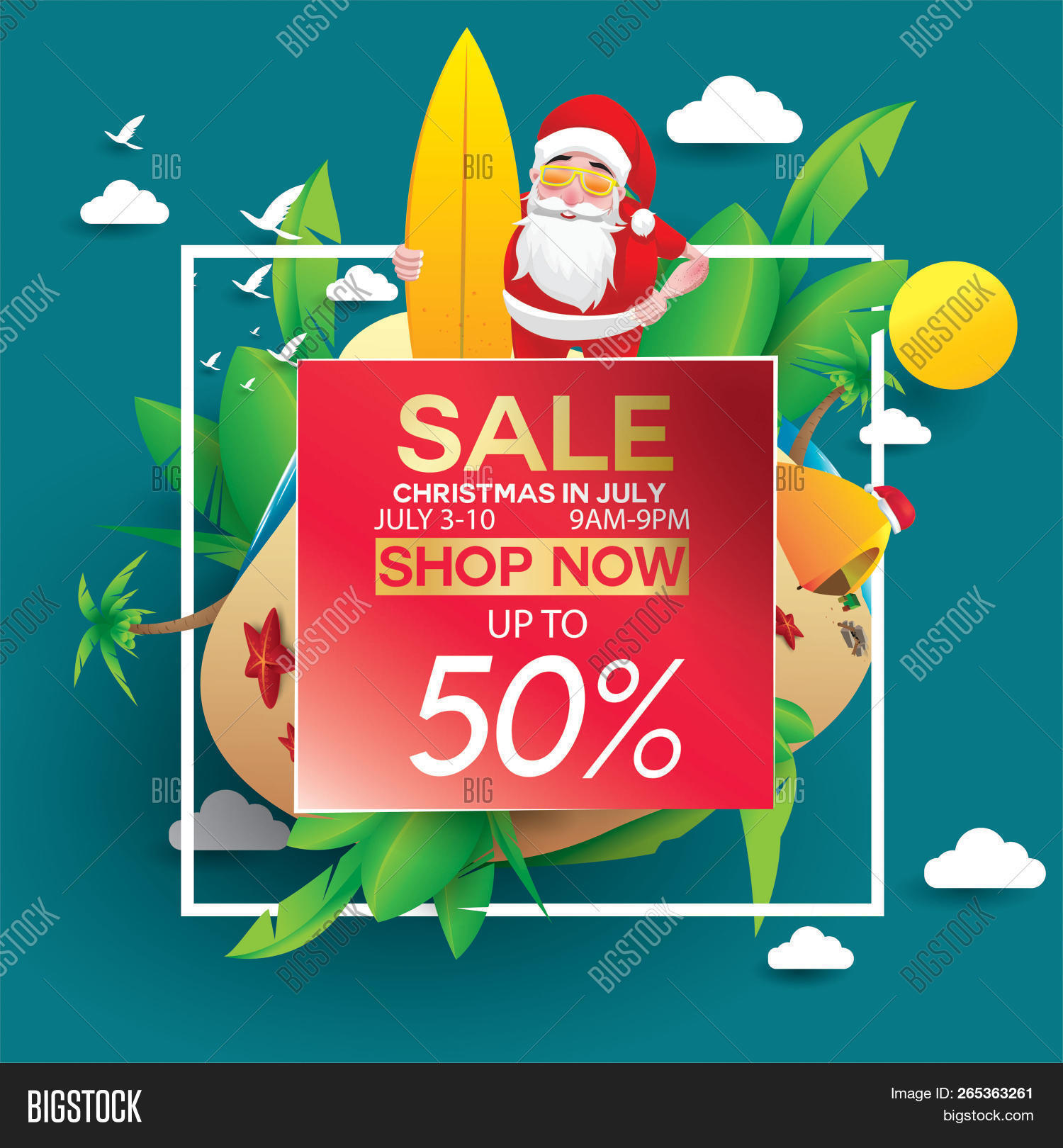 Christmas In August Poster.Christmas July Design Image Photo Free Trial Bigstock