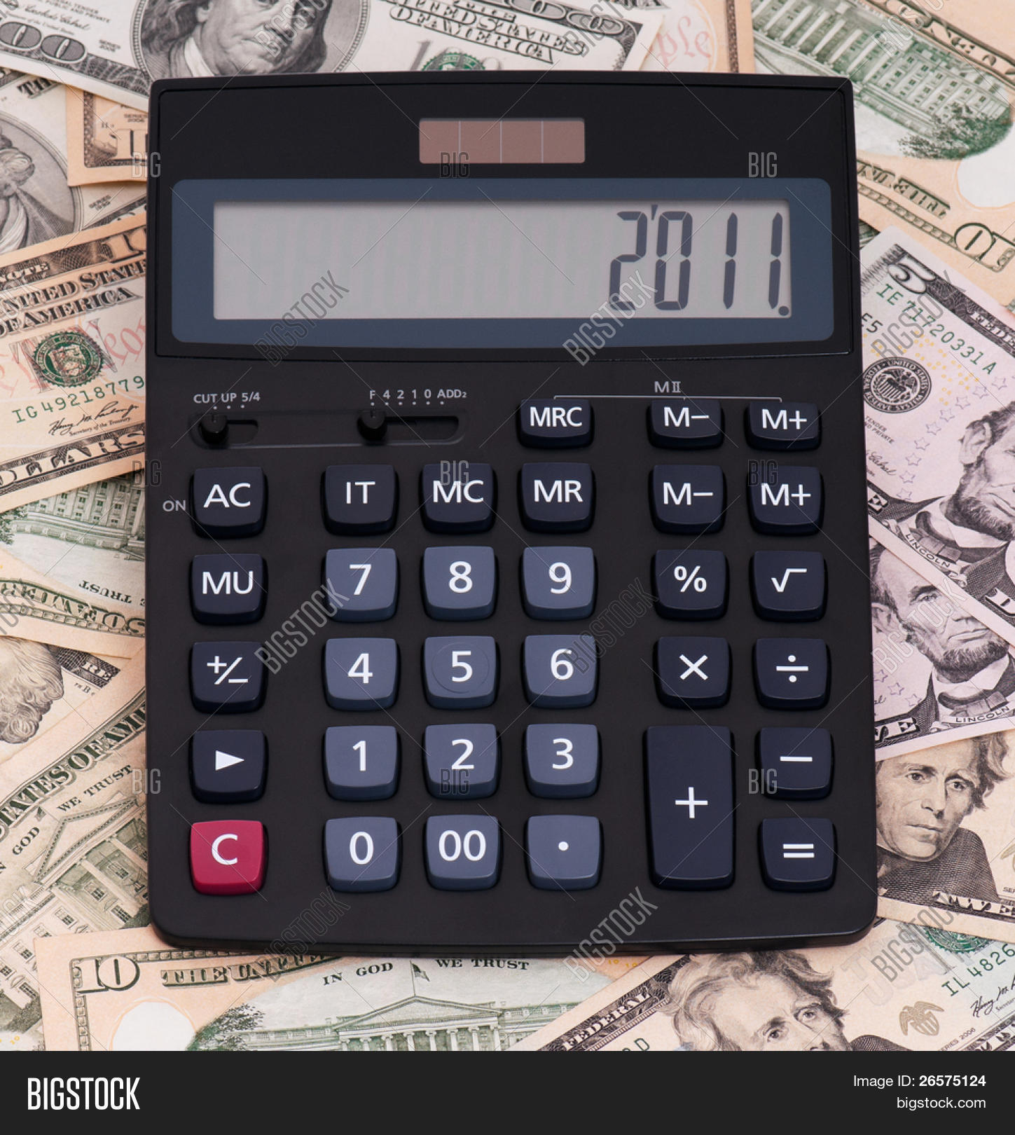 Calculator On Money Image Photo Free