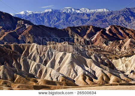 Zabruski Point Snowy Panamint Mountains Death Valley National Park California