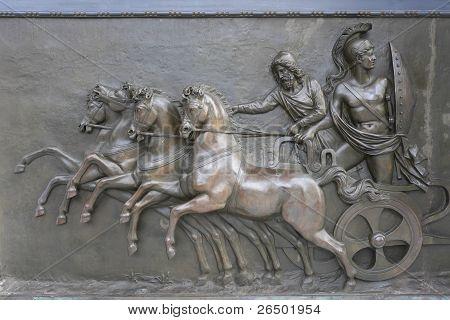 Achillion Palace Bronze Erleichterung