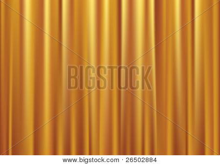 Vector gold curtain