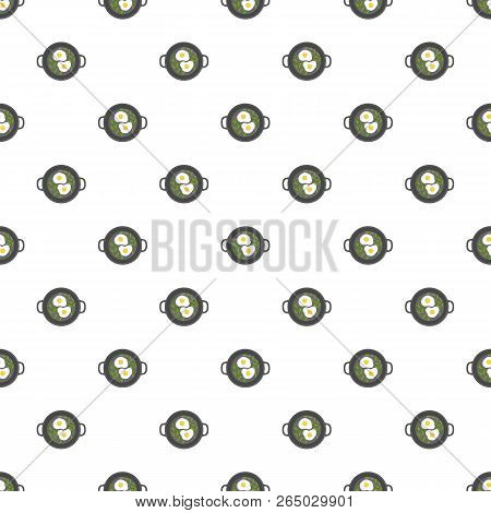 Egg On Griddle Pattern Seamless Repeat Background For Any Web Design