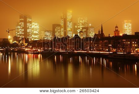 Skyline Frankfurt am Main in Germany.