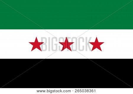 Syria Opposition. Interim Government Flag Of Syrian National Coalition. Official Colors. Correct Pro