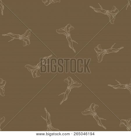 Horseradish Vector Calligraphy Seamless Pattern For Web, Textile, Branding, T-shirts, Cards, Craft