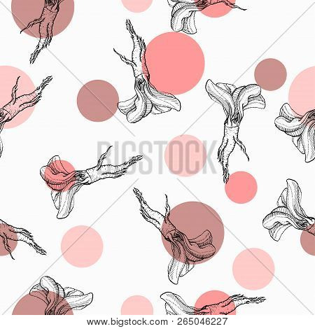 Horseradish Vector Red Dots Seamless Pattern For Web, Textile, Branding, T-shirts, Cards, Craft