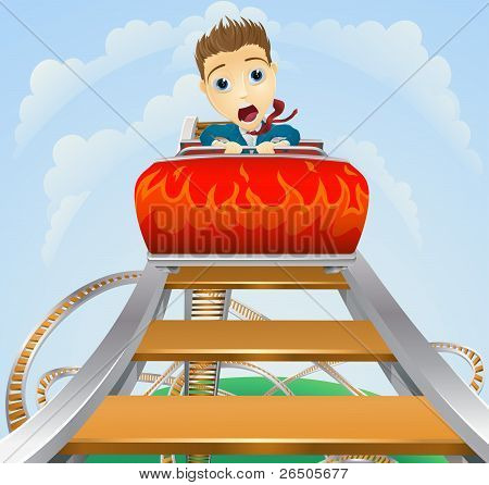 Business Roller Coaster Ride Concept