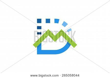 Letter D And M Logo Designs Inspiration Isolated On White Background