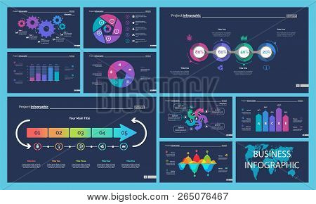 Business Infographic Diagram Slide Templates Set Can Be Used For Workflow Layout, Annual Report, Web