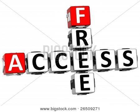 3D Free Access Crossword