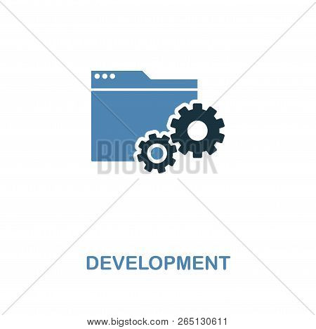 Development Creative Icon In Two Colors. Premium Style Design From Web Development Icons Collection.