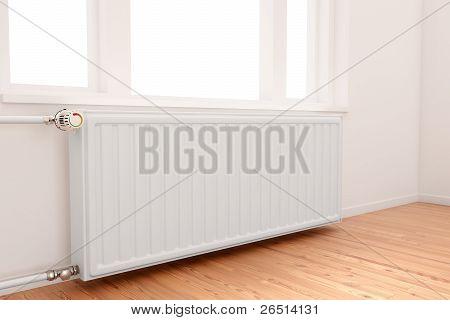 Radiator In Empty Room
