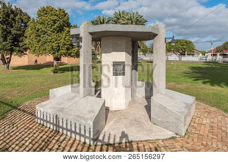 Goodwood, South Africa, August 14, 2018: A Memorial Honoring Members Of The Goodwood Community Who D