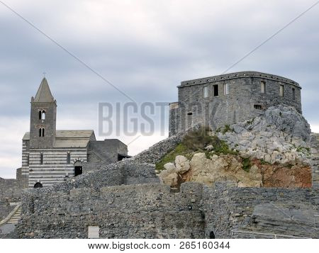 The Ancient Church Of Saint Peter In Portovenere In Liguria - Italy
