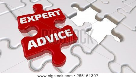 Expert Advice. The Inscription On The Missing Element Of The Puzzle. Folded White Puzzles Elements A