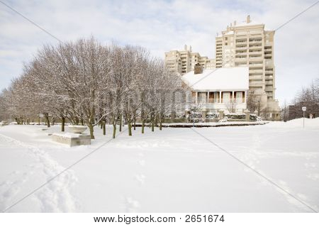 A Highrise In Winter