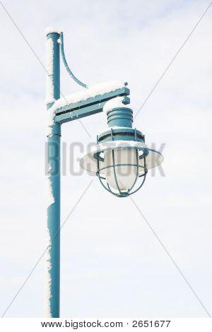 Street Light And Snow
